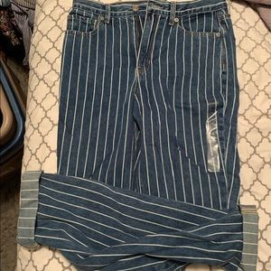 American Eagle striped jeans NWT size 6 x-long